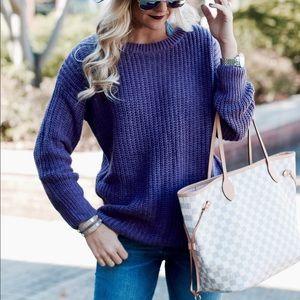 Sweaters - Plum Textured Sweater